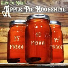Apple Pie Moonshine recipe with proof. I don't like moonshine but this is okay. Flavored Moonshine Recipes, Homemade Moonshine, Apple Pie Moonshine, Peach Moonshine, Making Moonshine, Fireball Recipes, Root Beer Moonshine Recipe, Moonshine Whiskey, Rum Recipes