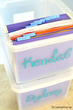 File Box School Paper Organization Pre K-12
