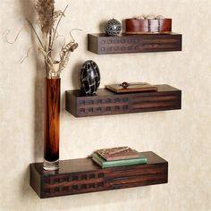 Wooden Shelf Design, Wooden Wall Shelves, Small Shelves, Floating Shelves, Wood Shelf, Glass Shelves, Wall Ledge Shelf, Wall Shelf Decor, African Home Decor
