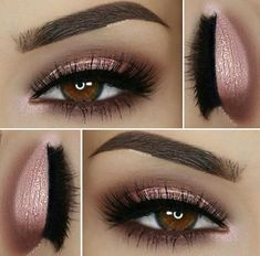 Soft pink eyeshadow