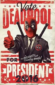 Definitely our best choice  http://amzn.to/2czA1d4  #deadpool #trump #clinton