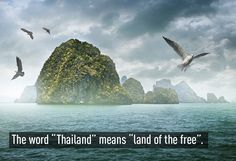 The word Thailand has beautiful meaning. Travel Maps, Paris Travel, Beautiful Meaning, Facts You Didnt Know, Winter Travel Outfit, Land Of The Free, Travel Gadgets, Thailand Travel, Travel Quotes