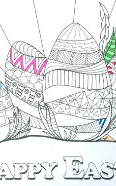 My illustrated Easter coloring page