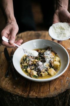 gnocchi with fall-apart tender braised lamb shank, tangy zante currants & pine nuts