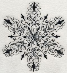 SNOWFLAKE SYMPHONY IN Blackwork Machine by EmbroideryExcellence