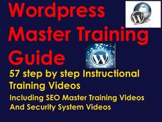 WORDPRESS MASTER TRAINING VIDEO GUIDE  #Wordpress #Training #Video