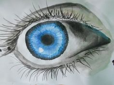 How to draw REALISTIC EYE with WATERCOLOR - YouTube