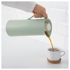 IKEA - BEHÖVD Vacuum flask light green, beige