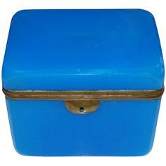 19th Century French Opaline Box