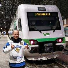 """""""Well, I have work tomorrow and the last faster commuter home is about to depart. Thanks to VR for joining the celebrations! Meanwhile In Finland, Work Tomorrow, Vr, Celebrations, Gold, Yellow"""