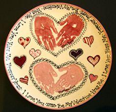 Handprint plate for Handprint ceramic plate ideas