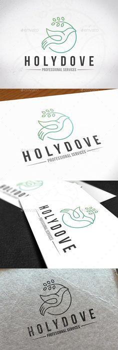 Holy Spirit Dove Logo for $29  #logo #GraphicRiver #LogoDesign #animal #BestDesignResources