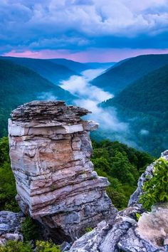 Blackwater Falls State Park, Potomac Highlands in West Virginia.