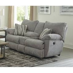 Catnapper Sadler 78'' Wide Pillow Top Arm Reclining Loveseat & Reviews   Wayfair Living Room Furniture Sale, Sofa Furniture, Living Room Sofa, Ashley Furniture Sofas, Furniture Ideas, Dining Room, Loveseat Recliners, Chaise Sofa, Couches