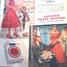 1956 Lucky Strike ad in LIFE magazine.