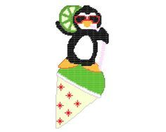 Plastic Canvas Wall Hangings Just Chillin Penguin by kathybarwick, $2.20