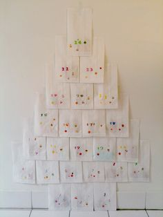 Could do this with different coloured scrap paper to make a no mess no fuss tree :) as if I would ever do a no fuss christmas. Hahaha
