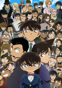 Conan/shinichi and Friends.and Kaito Kid (from DETECTIVE CONAN) Must watch because every Case is only one Episode and is Full of Fantasy Conan Movie, Detektif Conan, Tv Anime, Anime Manga, Anime Watch, Magic Kaito, Manga Comics, Detective Conan Episode 1, Manga Detective Conan