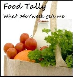 Weekly update of a $40/week grocery budget for a family of 4.