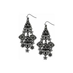 Forever21.com - Product C3 ❤ liked on Polyvore featuring jewelry, earrings, accessories, black, earring jewelry, forever 21 earrings, forever 21 and forever 21 jewelry