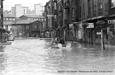 Calle Ibaiondo, Romo. Inundaciones, 12 de junio de 1977 (Colección Kepa Urkiza) (ref. KU02999)