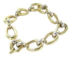 CIT 14KT Solid Yellow & White Gold Link Bracelet