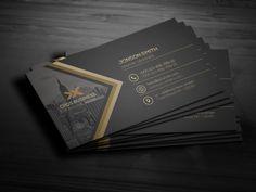 Creative Business Card by Jihadraj on Architecture Business Cards, Luxury Business Cards, User Guide, Card Templates, Creative Business, Design Cards, Room Decor, Real Estate, Branding