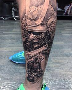 Japanes Buddha Tattoos for Men On Arm Warrior Tattoo Sleeve, Samurai Warrior Tattoo, Warrior Tattoos, Leg Tattoo Men, Arm Tattoos For Guys, Trendy Tattoos, Forearm Tattoos, Body Art Tattoos, Japanese Leg Tattoo