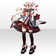 Model Outfits, Other Outfits, Anime Outfits, Pretty Outfits, Chibi, Character Design, Kimono, Animation, Drawings
