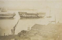 Prison Hulks on the River Thames, Woolwich, c.1856. © Greenwich Local History Library. #thamesdiscovery #greenwichfrogs #Woolwich