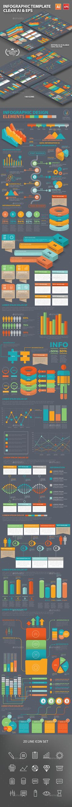 Infographic Template Design - #Infographics Download here: https://graphicriver.net/item/infographic-template-design/18248866?ref=alena994