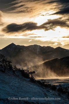 Absaroka Range, south of Livingston, Montana, sunrise.  (One of my favorite spots in the world, so beautiful and peaceful)