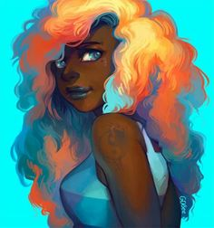 I´m Sol, I love art, illustration,photography and basically anything that inspires me. You´re. Black Girl Art, Black Women Art, Black Girl Magic, Art Girl, Arte Black, Black Anime Characters, Natural Hair Art, By Any Means Necessary, Black Artwork