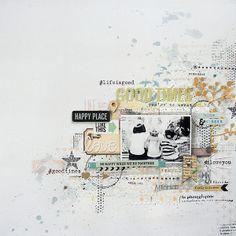 #papercraft #scrapbook #layout Love by Nine Scrap @2peasinabucket