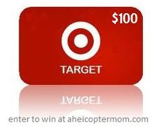 $100 Target Gift Card Giveaway - A Helicopter Mom. Giveaway ends 10/16 at 11:59pm EST.