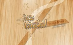 A desktop background, tried out creating wooden texture from scratch. Dated 2011.