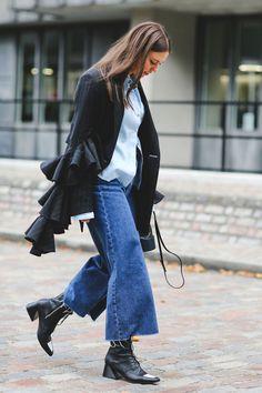 CURVY Girls Jeans Donna Pantaloni Jeans Skinny look vissuto con rete