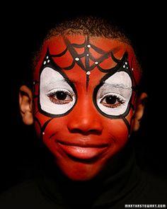 Last-Minute Halloween Costume: Spiderman Face Paint