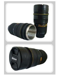 Nikon Lens Insulated Travel Mug Coffee Love Pinterest Nikon Lens - Nikon coffee cup lens