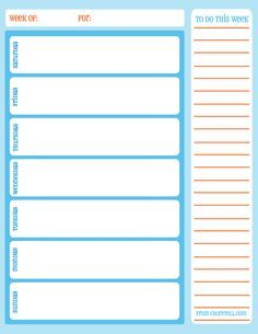 weekly schedule template for word version 1 landscape 1 page