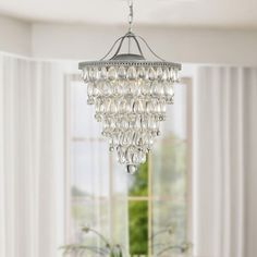 Looks easy to make amazon crystal chandeliers charley pride cone shape 4 light matte silver crystal chandelier free shipping today overstock 13687713 mobile mozeypictures Images