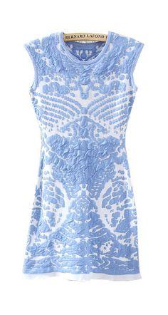 porcelain pattern knit dress