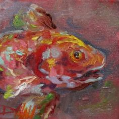 Red Fish, painting by artist Delilah Smith