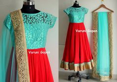 Blue red Anarkali      Price 6750 INRMail to varunigopen@gmail.comwhatsapp 9849125889  07 October 2016