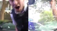A member of So Solid Crew shared the video, showing an angry policeman smashing…
