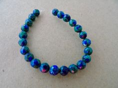 """4MM Natural Azurite Gemstone Beads Grade AAA Faceted Round Loose Beads 5 1/2"""" #Unbranded #Faceted"""