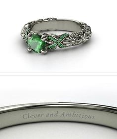 Slytherin ring.