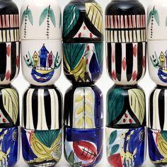 Inger Waage - Just loving the hen images. Norwegian and Scandinavian Retro Home, Hens, Scandinavian Design, Icon Design, Norway, Ceramics, Cool Stuff, Pattern, Inspiration