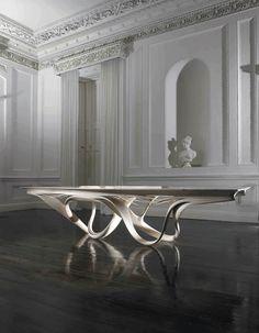 Enignum II dining table, €156,000 photographed at Fota House, Cork, Ireland