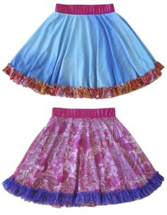 Twirly skirts for girls from the people who perfected them.  TwirlyGirl!  This style is reversible! $62 Shop here.
